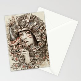 Peacock Samurai Stationery Cards