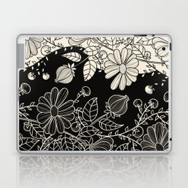 FLOWERS EBONY AND IVORY Laptop & iPad Skin