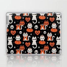Halloween Kitties (Black) Laptop & iPad Skin