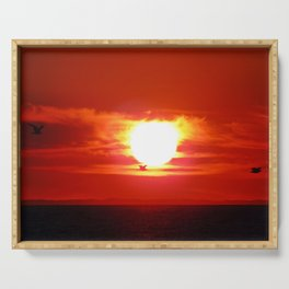 Heart Shaped Sunset Serving Tray