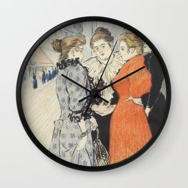"Théophile Alexandre Steinlen ""Les rues amoureuses"" Wall Clock"