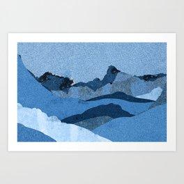 Mountain X Art Print