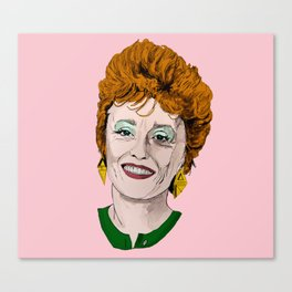 Blanche Devereaux from The Golden Girls (Pink) Canvas Print