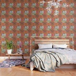 Bauhinia on vibrant kaleidoscope Wallpaper