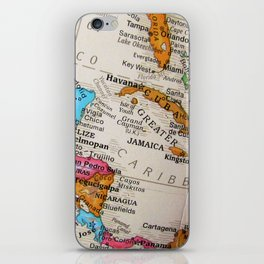 Map Art iPhone Skin