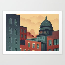 Urban Wildlife - Turtle Art Print