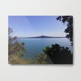 Magnificent Rangitoto Island - Extinct Volcano? Auckland Harbour, New Zealand. Metal Print