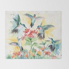 Hummingbird Party Throw Blanket