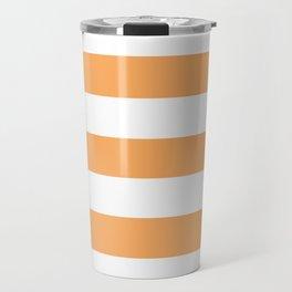 Rajah - solid color - white stripes pattern Travel Mug