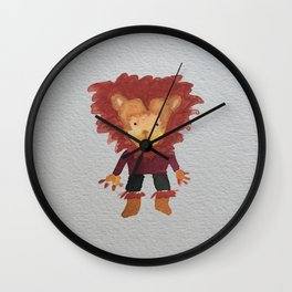 Lion Jungle Friends Baby Animal Water Color Wall Clock