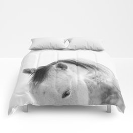 Modern Photography White Horse Comforters