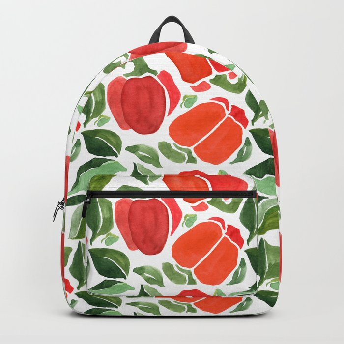 Red Bell Pepper pattern Backpack