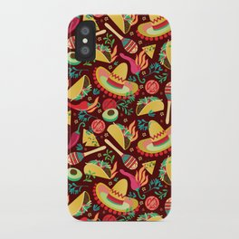 Spicy taco iPhone Case