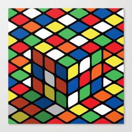 Illusion of the rubik's cube Canvas Print