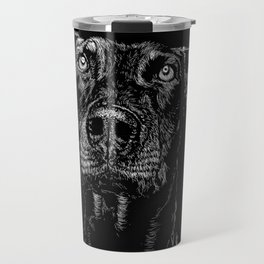 The Curious Expressions of Dogs Travel Mug