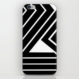 Modern Me Plain Black iPhone Skin