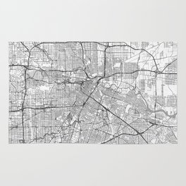 Houston Map Line Rug