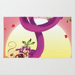 Far East Dragon print Rug