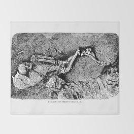 Remains of Prehistoric Man Throw Blanket