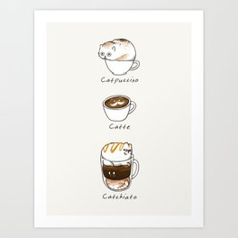 Coffee Right Meow Art Print