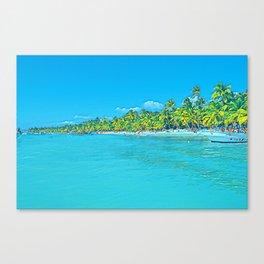 Saona Island - Art 001D Canvas Print