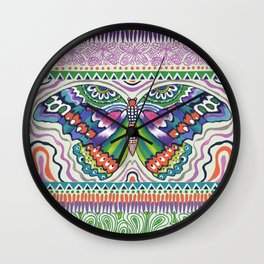 Tribal Butterfly Wall Clock