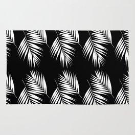 Palm Leaves Pattern #9 #White #Black #decor #art #society6 Rug