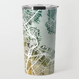 Boston Massachusetts Street Map Travel Mug