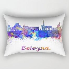 Bologna skyline in watercolor Rectangular Pillow