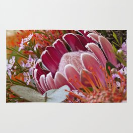 Lovely Feather Protea Rug