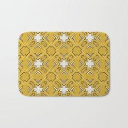 Ethnic pattern in yellow Bath Mat