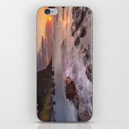 The Dunluce Castle in Northern Ireland at sunset iPhone Skin