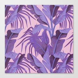 Tropical '17 - Starling [Banana Leaves] Canvas Print