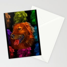 Golden Retriever Pop Art - 4057 Stationery Cards