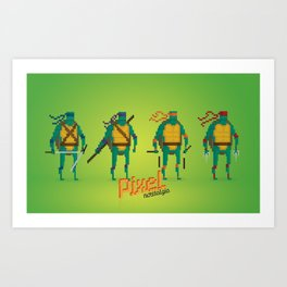 Ninja Turtles - Pixel Nostalgia Art Print