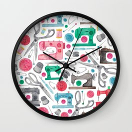 Sewing Pattern. Wall Clock