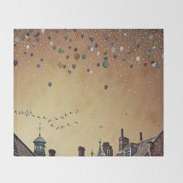 Innumerable wandering balloons Throw Blanket
