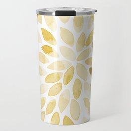 Watercolor brush strokes - yellow Travel Mug