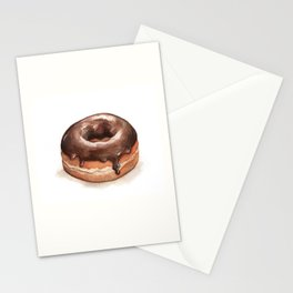 Chocolate Glazed Donut Stationery Cards