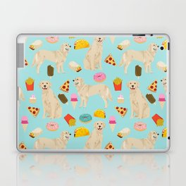 Golden Retriever donuts french fries ice cream pizzas funny dog gifts dog breeds Laptop & iPad Skin