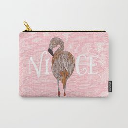 Nice Flamingo Carry-All Pouch