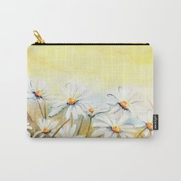 Daisies Watercolor Carry-All Pouch