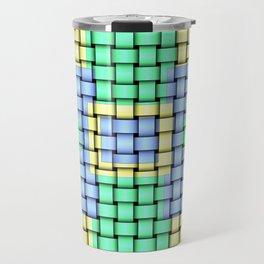 Beautiful Pastel Weave Texture Travel Mug