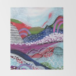 Abstract Landscape Throw Blanket