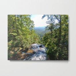 Over Amicalola Falls Metal Print