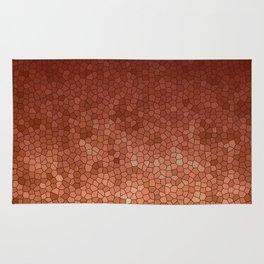 Copper Admiration - Copper Orange Warm Mosaic Rug