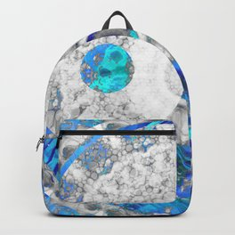 Blue And White Art - Yin And Yang Symbols - Sharon Cummings Backpack