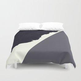 Contemporary Minimalistic Black and White Art Duvet Cover