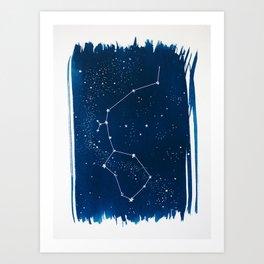 Aquarius Zodiac Print Art Print