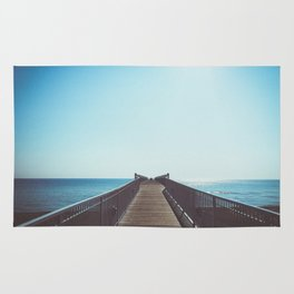 boardwalk leading into the great lakes Rug